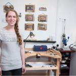 Jewellery Designer-Maker Anna Pope, Studio W25, Main Building ©Kirstin Prisk Photography