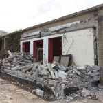 Demolition underway, May 2014 ©Kirstin Prisk Photography