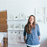 Illustrator Esther Connon, Studio W02a, Science Block ©Kirstin Prisk Photography