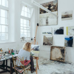 Painter Kerry Harding, studio W24a, Main Building ©Kirstin Prisk Photography