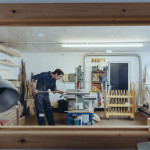 Furniture Designer-Maker Tristan Harris, Studio E03, Elliott Hut ©Kirstin Prisk Photography