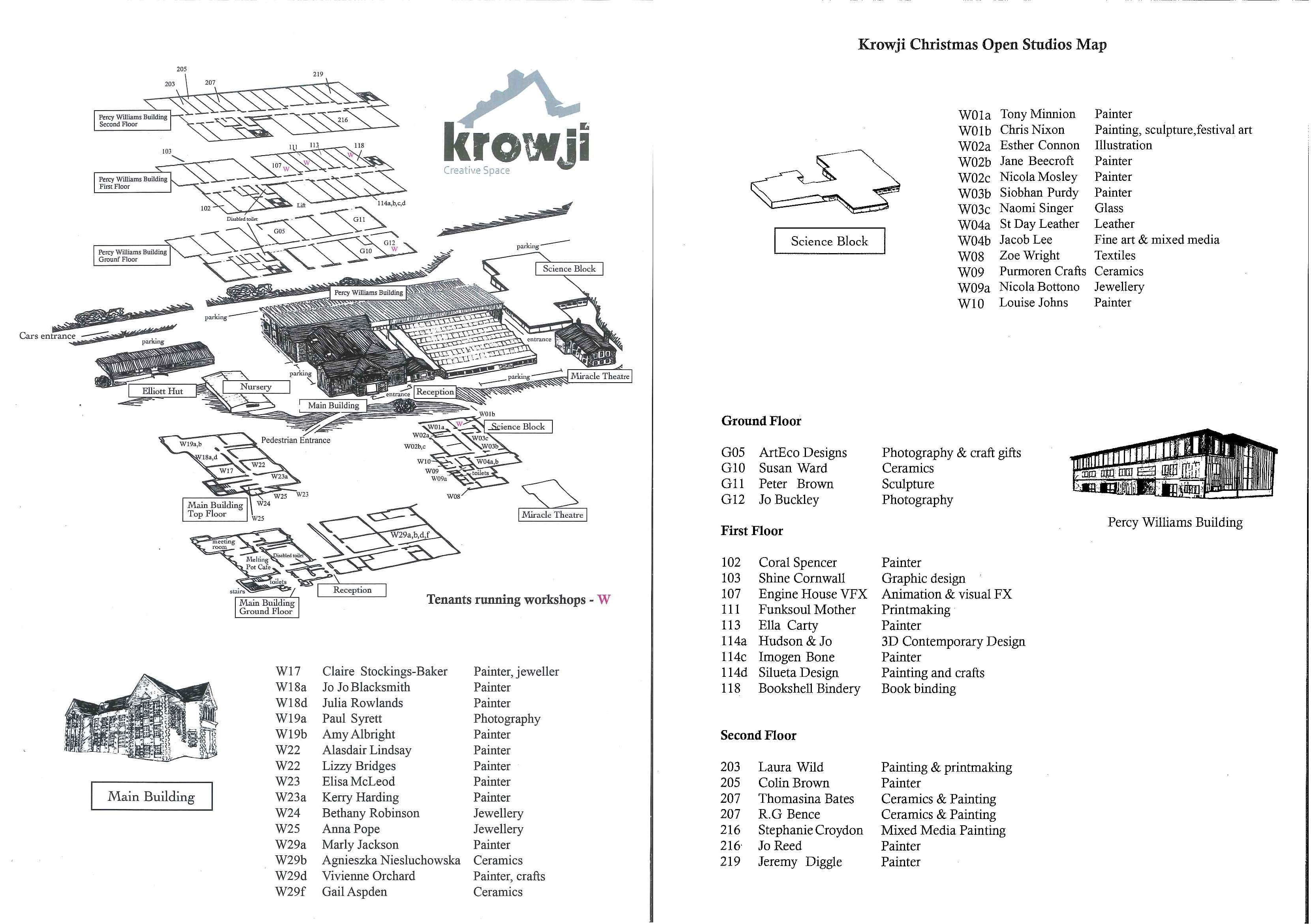 Map of Christmas Open Studios 2015