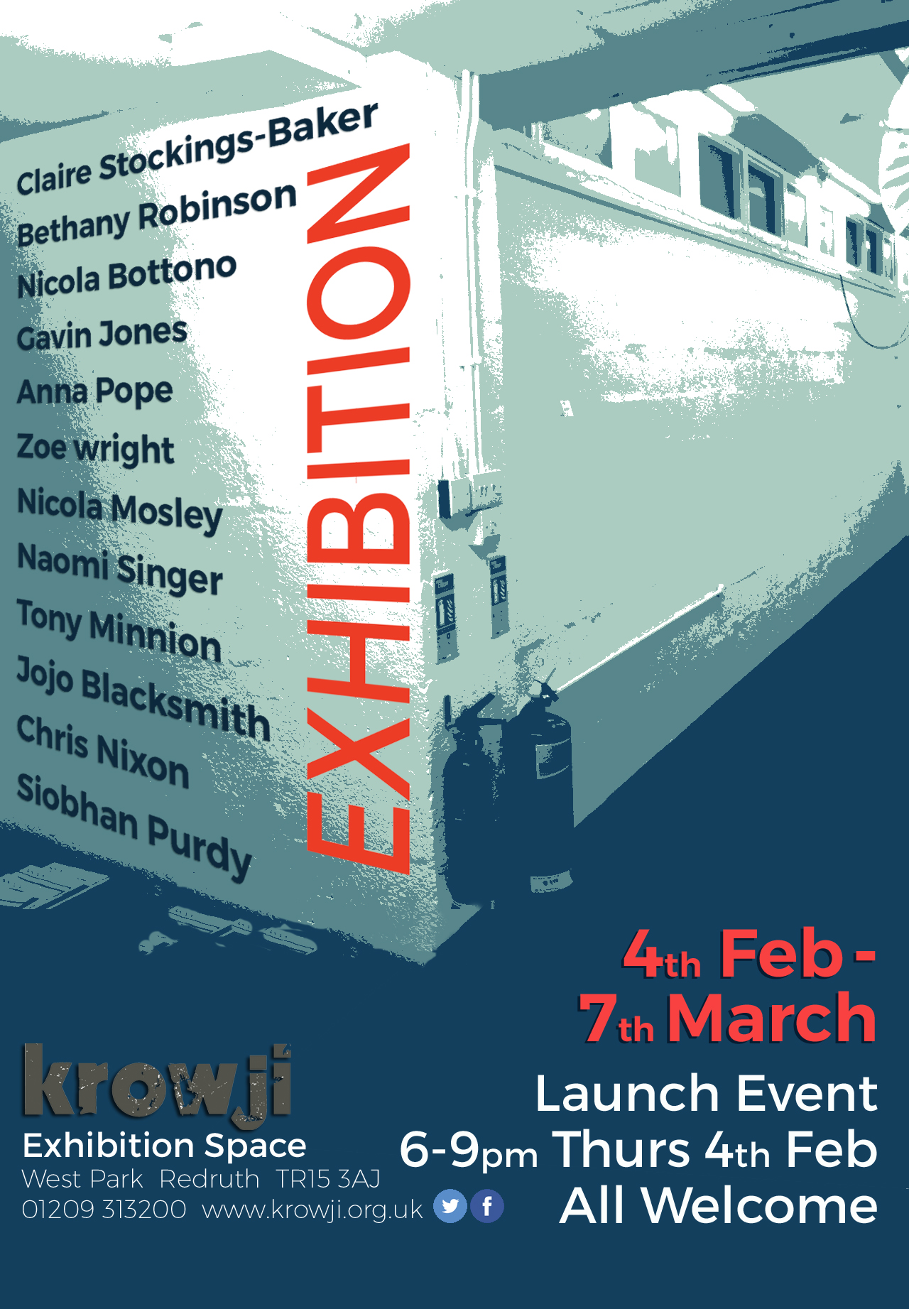 Krowji exhibiton flyer