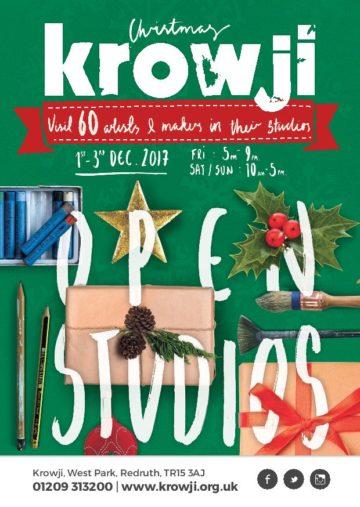 Krowji Christmas Open Studios 2017 Flyer Front Low Res