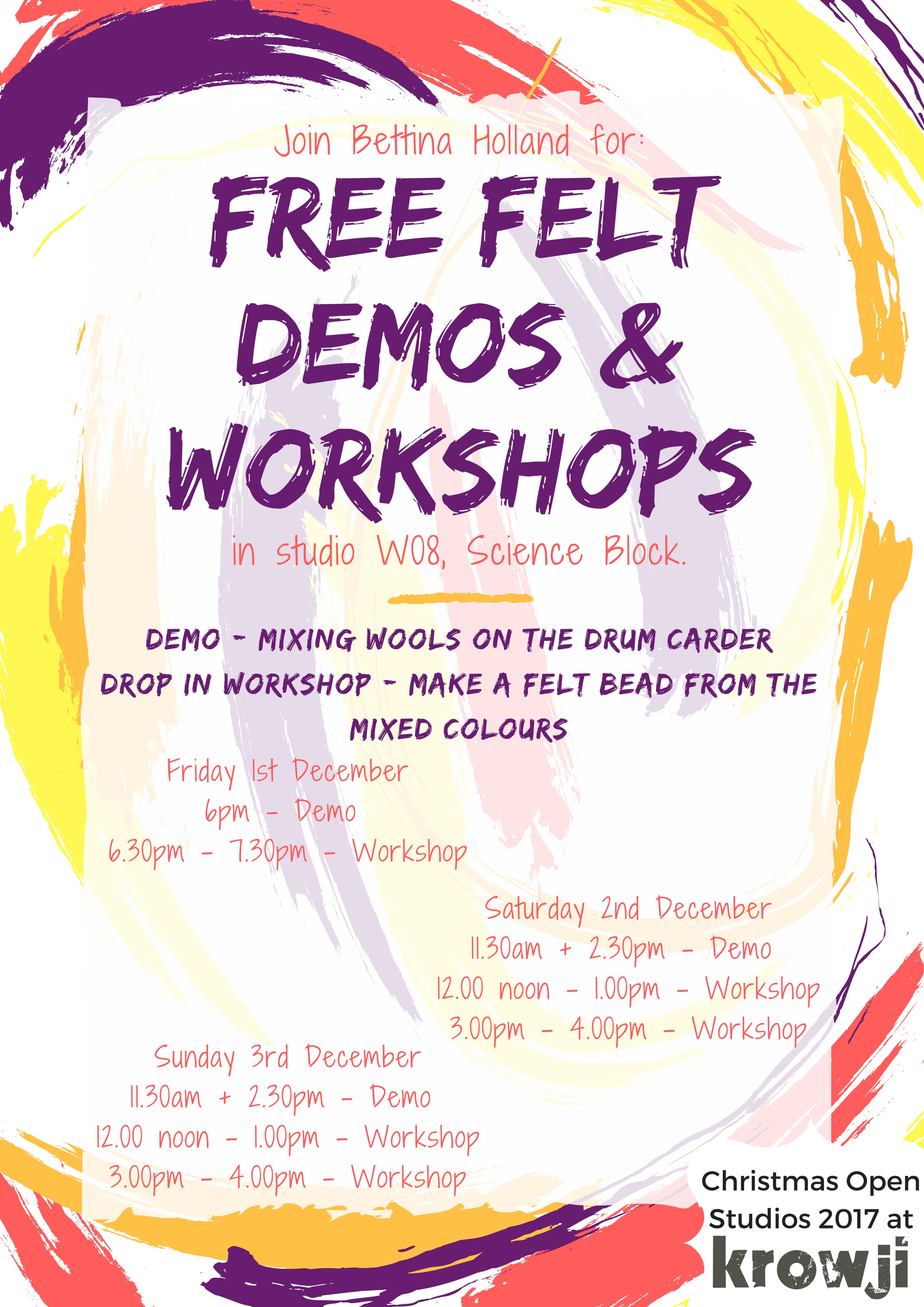 Free Felt Demos and Workshops