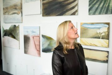 HRH Countess of Wessex in the Krowji studio of painter Kerry Harding