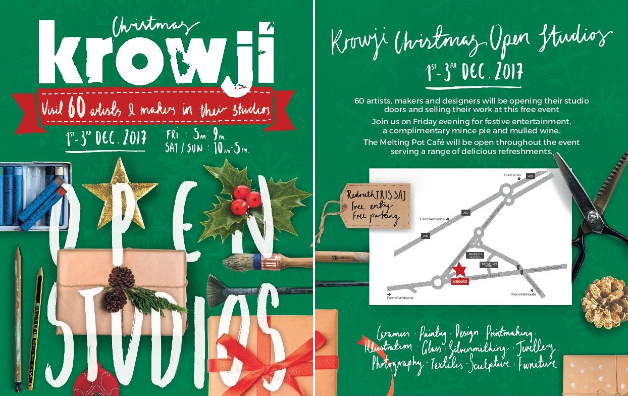 Krowji Christmas Open Studios 2017 for news post double
