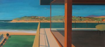 Alasdair+Lindsay,+Hayle+Rivermouth,+Cornwall,+acrylic+on+canvas,+52x112x5+cm