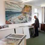 Tony Minnion in his Krowji Studio