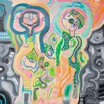 Neil Thomas, Unseen Scream, acrylic on canvas
