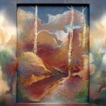 Jane Beecroft, Autumn Forms, mixed media on canvas and wood