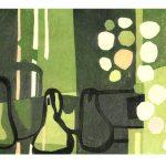 Adrian Holmes Woodblock, Three Pears,