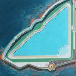 Alasdair Lindsay, Jubilee Pool, Penzance, acrylic on board